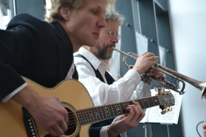Chai For Two are Knud Stuwe and David Mowat, performing at M Shed Bristol